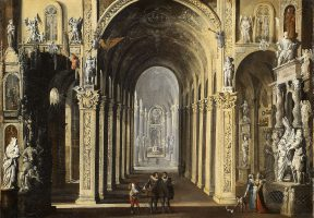 Intérieur de l\\\'église Santa Maria delle Grazie Maggiore, Caponapoli, Naples 1619