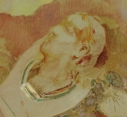 Detail from Orpheus by Redon