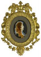 Portrait de Louis XIV en trompe-l'oeil