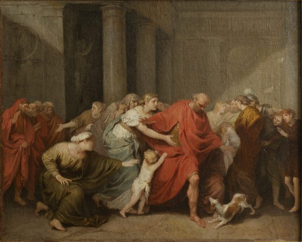 Regulus leaving his Family to return to Carthage