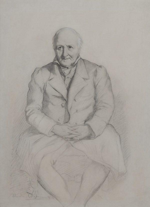 Portrait de Charles de Buus Baron d'Hollebèke, beau-père du Vicomte de Ranchicourt
