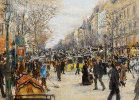 On the Grands Boulevards, Paris
