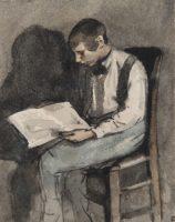 Théodule Ribot, Young Man Reading