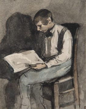 Théodule Ribot, Young Man Reading