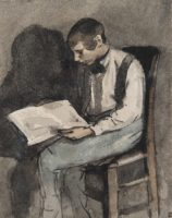 Théodule Ribot, Jeune homme lisant