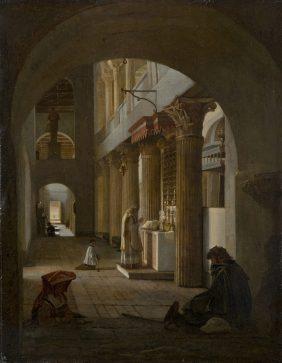 Intérieur de l'église Saint-Laurent-Hors-les-Murs, à Rome