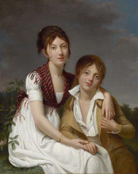 Portrait of Amélie-Justine and Charles-Édouard Pontois