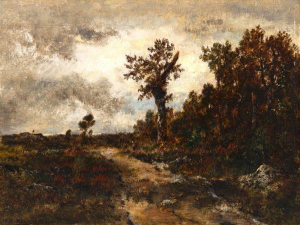 Théodore Rousseau, Route dans la forêt de Fontainebleau