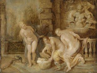 Rubens, la Découverte de Erichthonios