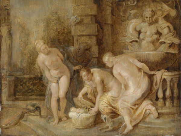 La découverte d'Erichthonios par les filles de Cécrops