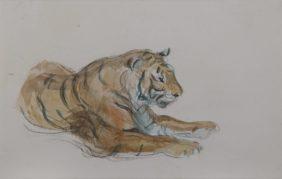Charles-Edme Saint-Marcel, Tigre allongé