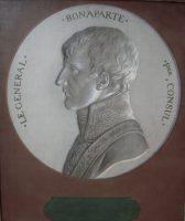 Portrait en trompe l'oeil de Napoléon Bonaparte Premier Consul