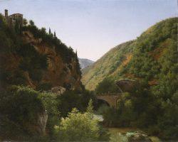 Bridge and aqueduct in ruins, San Cosimato