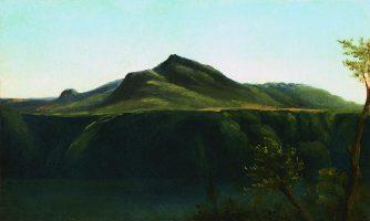 Vue du Monte Cavo sur le Lac d'Albano
