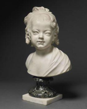 Louis-Claude Vassé, Portrait of Constance-Felicité-Victoire-Desirée Vassé aged 3, Daughter of the Artist