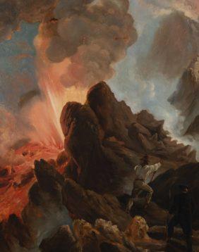 Vernet Horace, Vesuvius Erupting