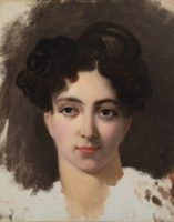 Horace Vernet, Portrait of the Actress Mademoiselle Mars