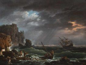 Claude Joseph Vernet, Scène de tempête aux abords d'une côte méditerranéenne