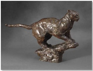 sculpture représentant un félin