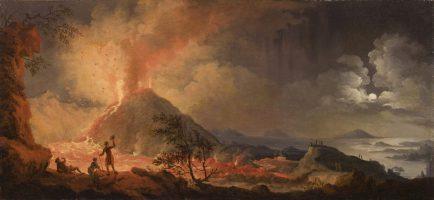 The eruption of mount Vesuvius from he Atrio del Cavallo